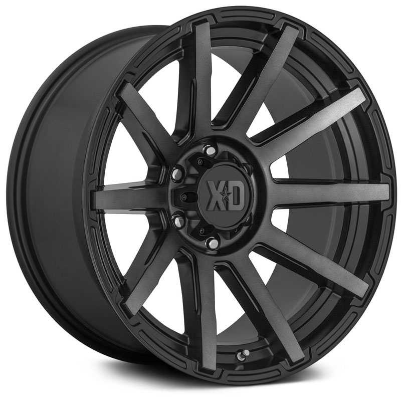 20x9 XD Series XD847 Outbreak Gloss Black Milled MID