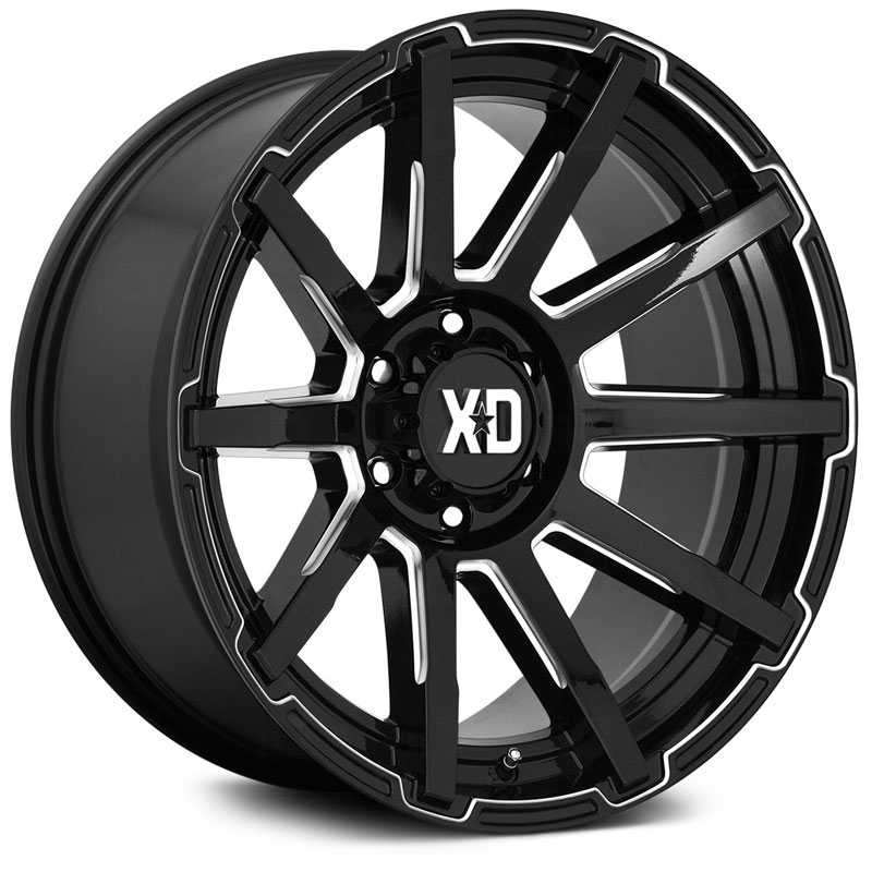 20x9 XD Series XD847 Outbreak Satin Black w/ Gray Tint MID