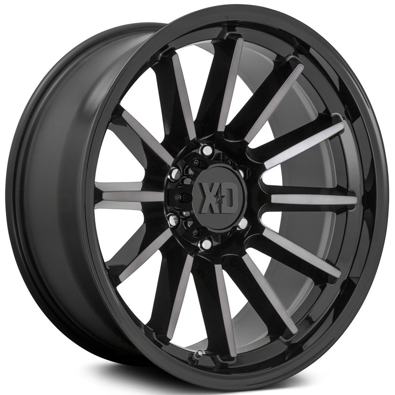 XD Series XD855 Luxe  Wheels Gloss Black Machined With Gray Tint