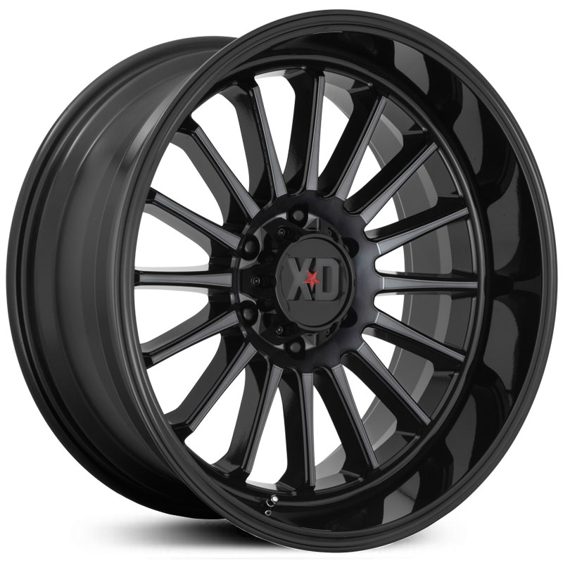 XD857 Whiplash Gloss Black With Gray Tint