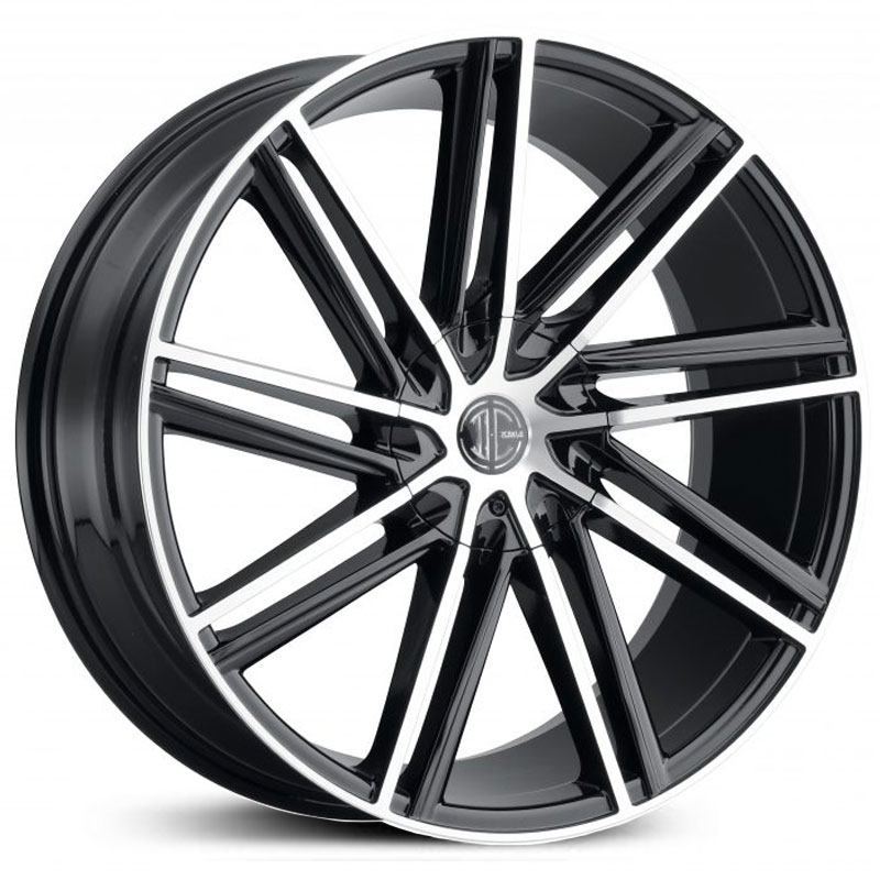 2Crave 2Crave No.39  Wheels Gloss Black Machined Face & Stripe