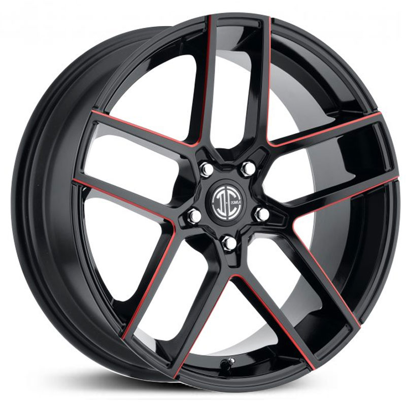 2Crave 2Crave No.54  Wheels Gloss Black w/ Red Milling