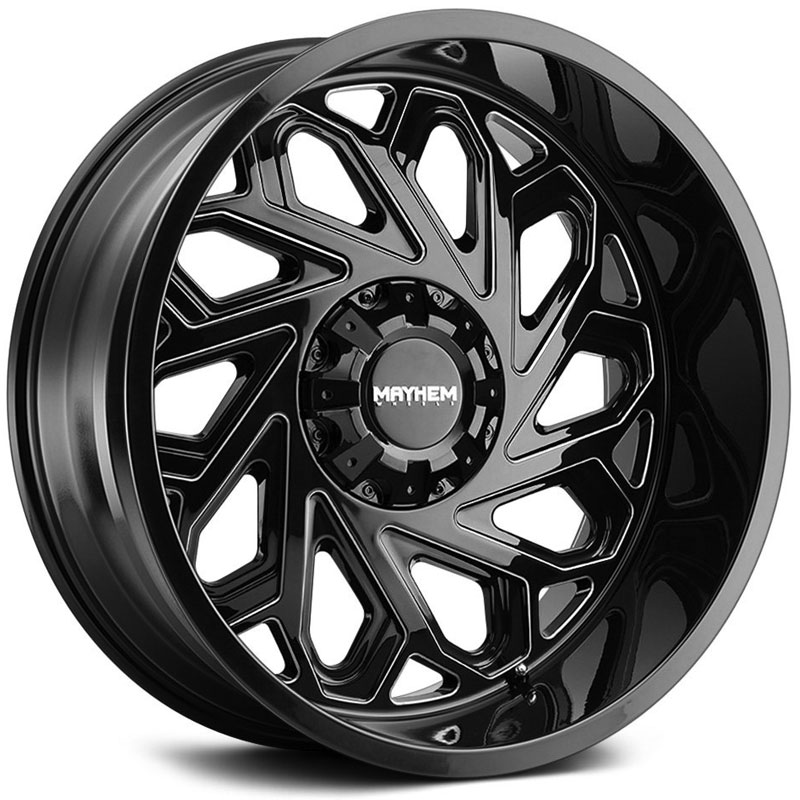 Essex 8112 Gloss Black Milled Spokes