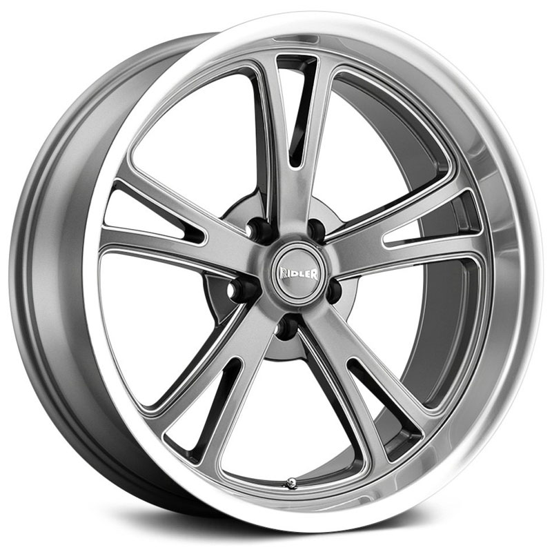Ridler Style 606  Wheels Grey w/ Milled Spokes & Diamond Lip