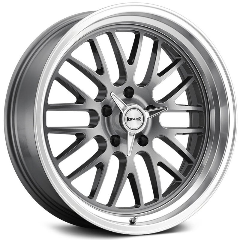 Ridler Style 607  Wheels Grey w/ Machined Lip