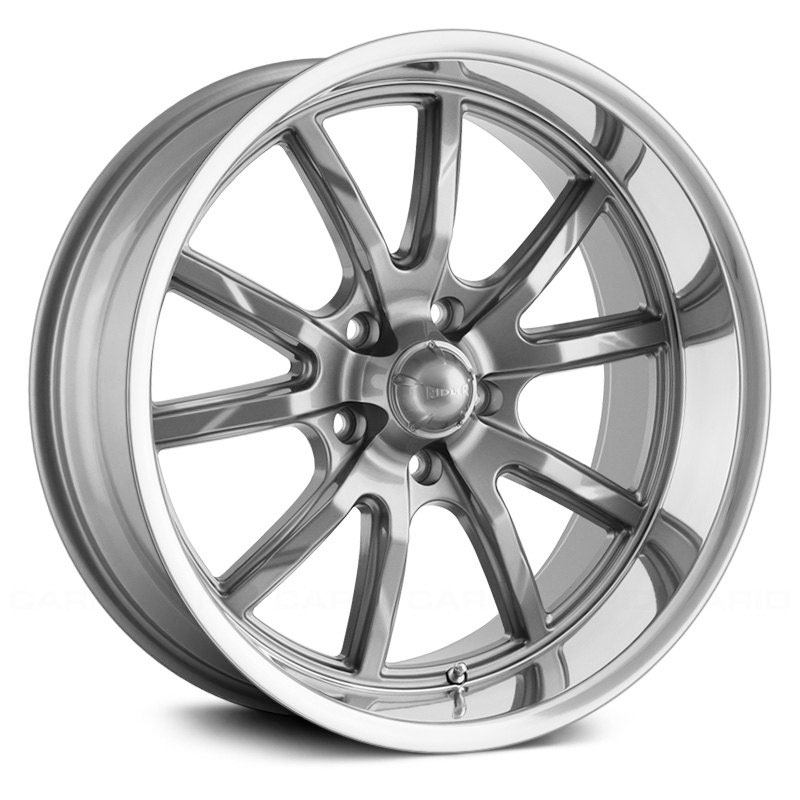 Ridler Style 650  Wheels Grey w/ Polished Lip