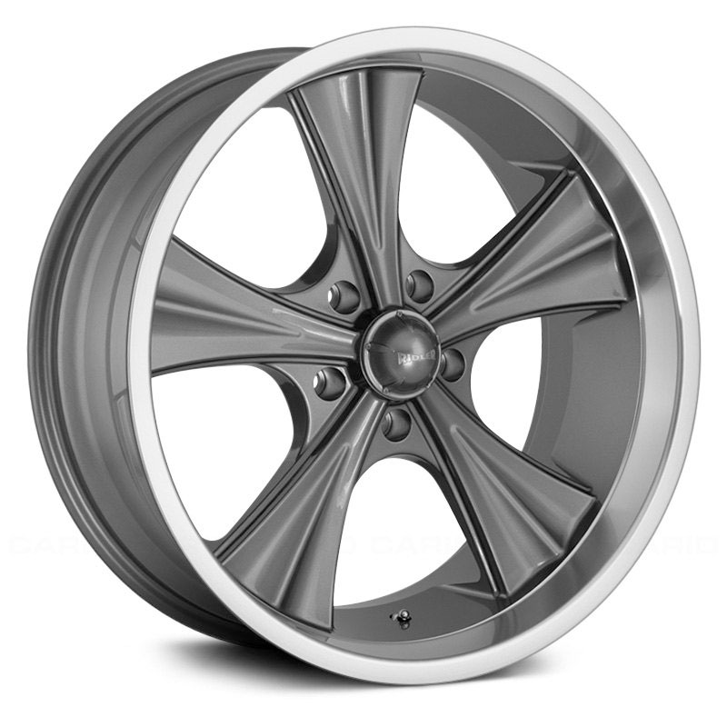 Ridler Style 651  Wheels Grey w/ Machined Lip