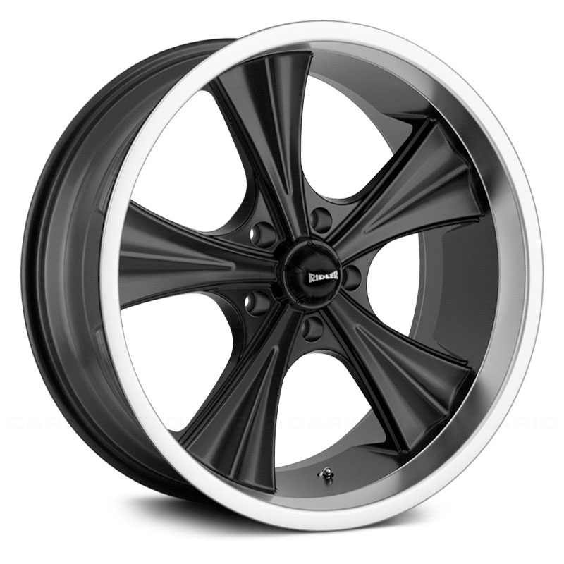 Ridler Style 651  Wheels Matte Black w/ Machined Lip
