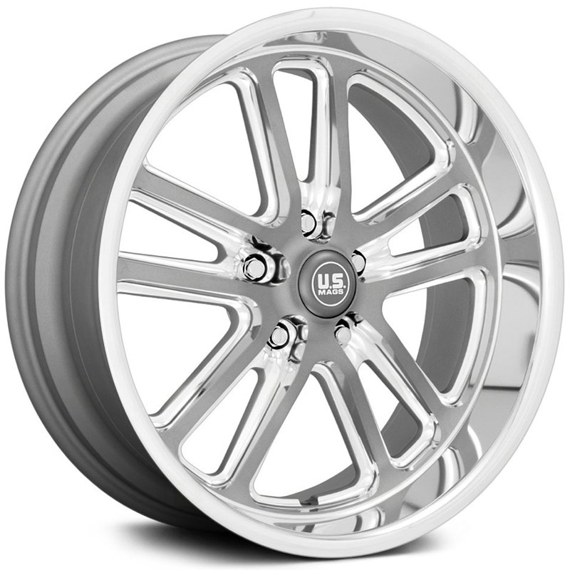 US Mags U130 Bullet  Wheels Matte Gunmetal Milled