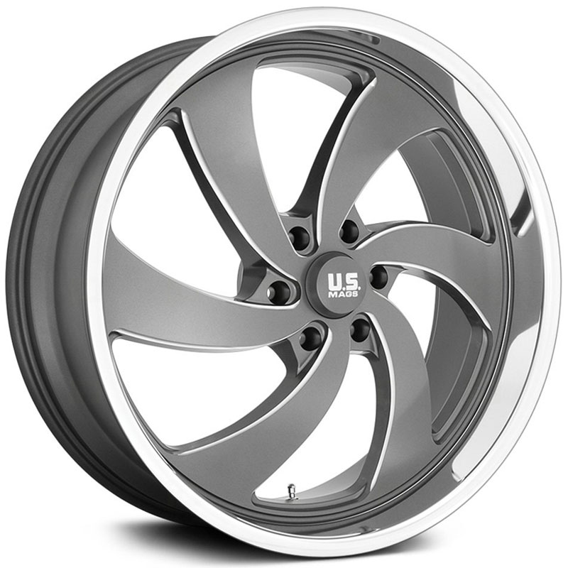 US Mags U133 Desperado  Wheels Antracite Milled Diamond Cut Lip